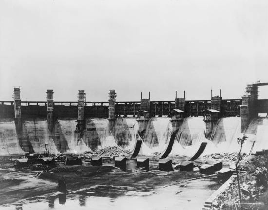 Gatun Lake spillway, Panama Canal, circa 1914. As the canal celebrates its centennial anniversary this year, work is underway to expand and deepen the canal to accommodate larger ships. Library of Congress photo