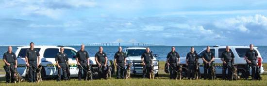 Some of Police Service Dogs, Inc.'s finest police dogs being represented by the Florida Pinellas County Sheriff Office's K-9 Unit! Police Service Dogs, Inc. Facebook Page photo