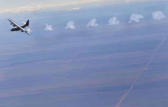 AC-130W firing