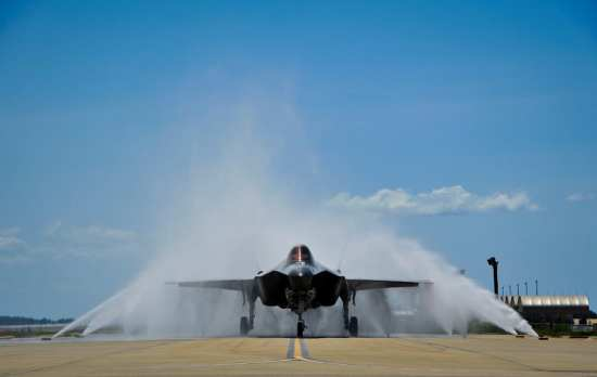 First female F-35 pilot lands