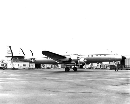 Columbine III, a VC-121E Super Constellation, was longer and heavier than its predecessor and had more interior space, boasting a 3,500-mile range. Norm Taylor Collection via Robert F. Dorr
