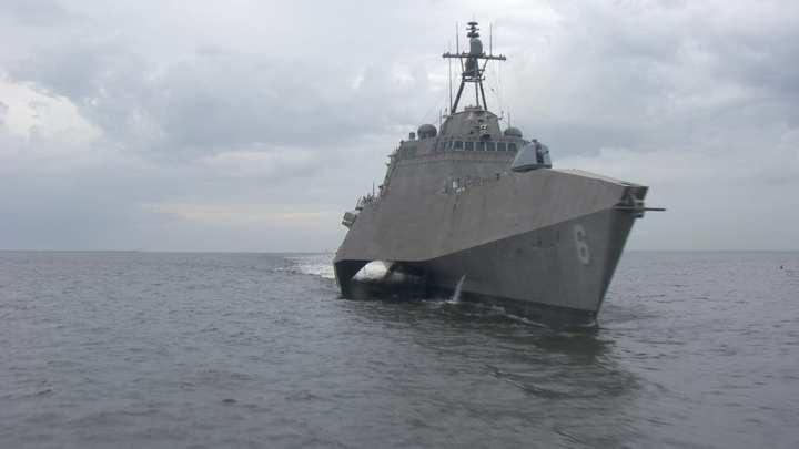 LCS 6 during trials