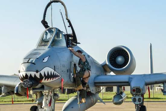 A U.S. Air Force pilot steps out of an A-10 Thunderbolt II attack aircraft shortly after arriving at Incirlik Air Base, Turkey Oct. 15, 2015. The 12 A-10 Thunderbolt IIs are deployed to Incirlik AB in support of Operation Inherent Resolve. The aircraft is deployed to Incirlik AB in an effort to enhance the international Coalition against ISIL. U.S. Air Force photo by Senior Airman Cory Bush