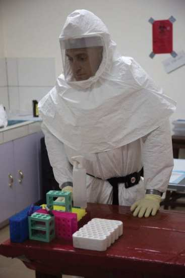 checking Ebola samples