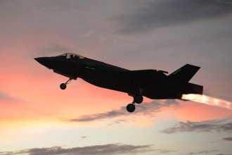 F-35 night afterburner