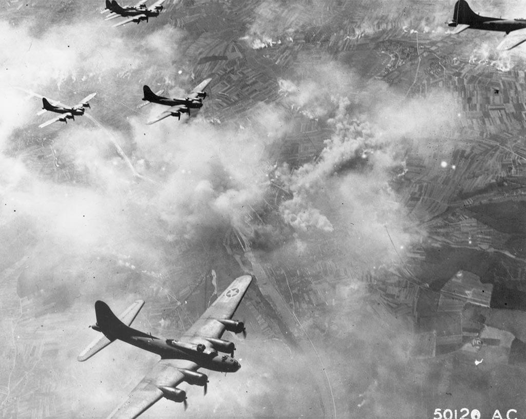 B-17Fs over Schweinfurt Aug. 1943