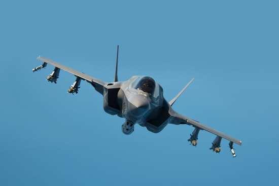 F-35B loaded
