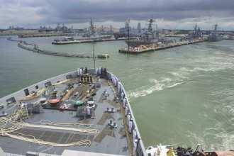 USS San Antonio (LPD 17) Departs Norfolk