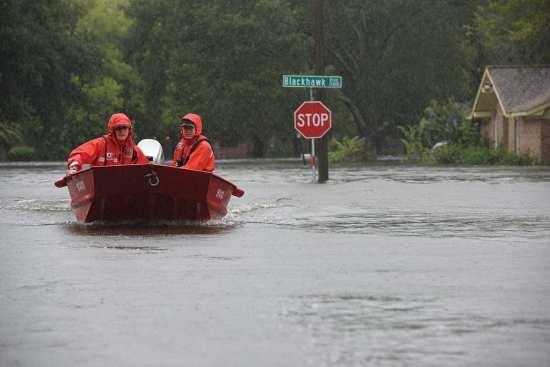 hurricane flood punt Houston