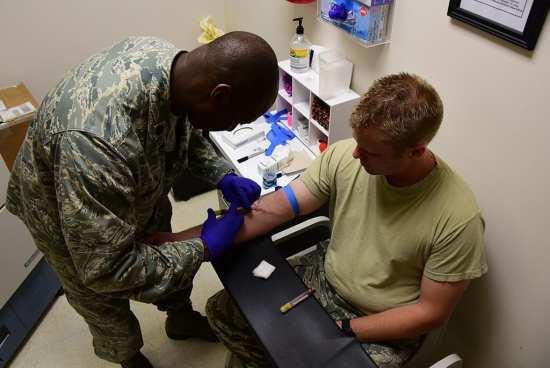 HIV test blood draw