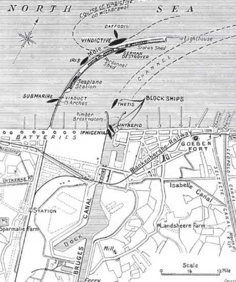 Zeebrugge-raid-sketch