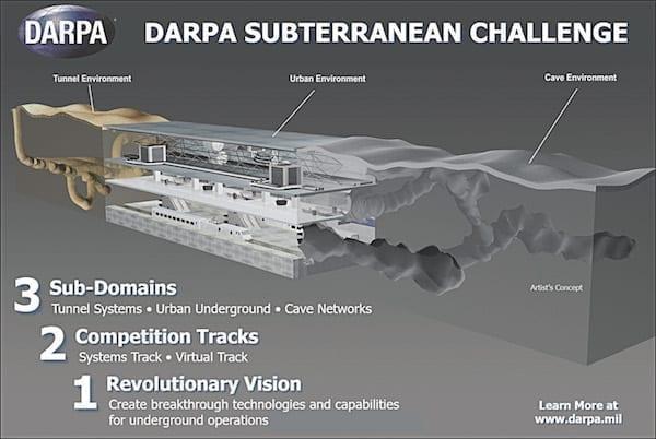 DARPA Subterranean Challenge. DARPA image