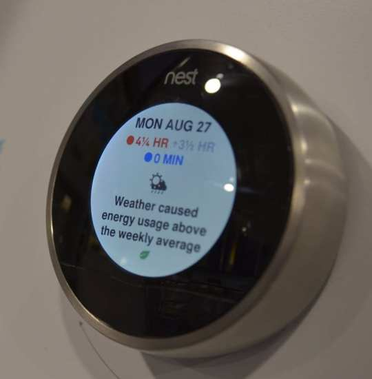 Nest learning thermostat DARPA web
