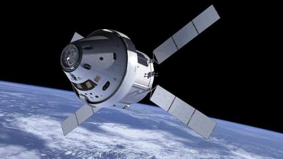 artist conception Orion capsule ISS web