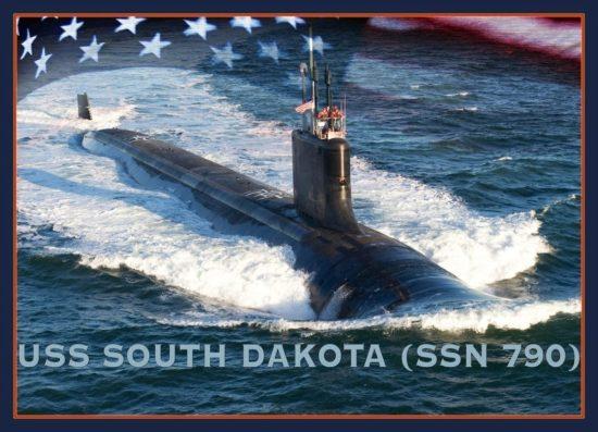 A photo illustration of the Virginia-class submarine USS South Dakota (SSN 790). U.S. Navy photo illustration by Stan Bailey