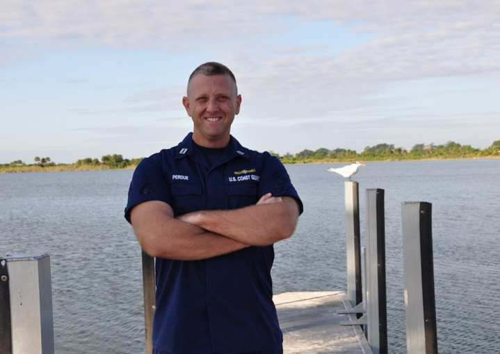 Lt. Jay Perdue, a seasoned veteran of almost 10 years, is a prevention officer at Coast Guard Sector Miami Inspections Branch.