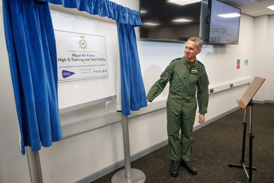 Chief of the Air Staff opening the new facility at RAF Cranwell. Crown copyright.