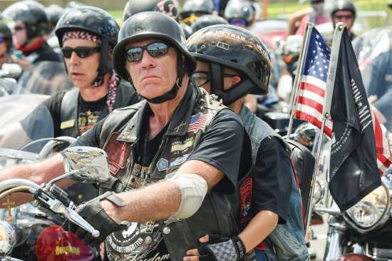 Each Memorial Day, the Pentagon hosts bikers who rally in its parking lots for the annual Rolling Thunder demonstration ride. U.S. Marine Corps photo by Kathy Reesey
