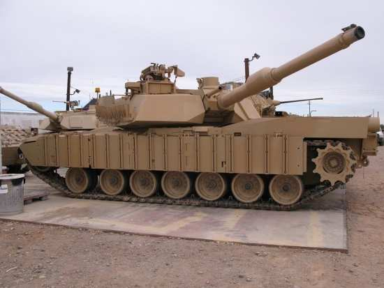 Abrams desert combat vehicle coating