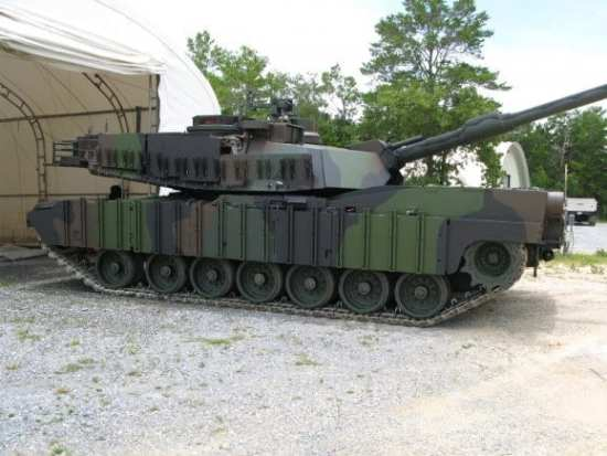 Abrams combat vehicle coating