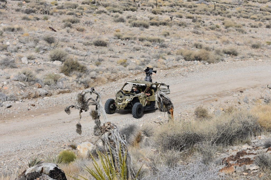 "Firing Talon ""on the move"" from a Can Am all terrain vehicle"