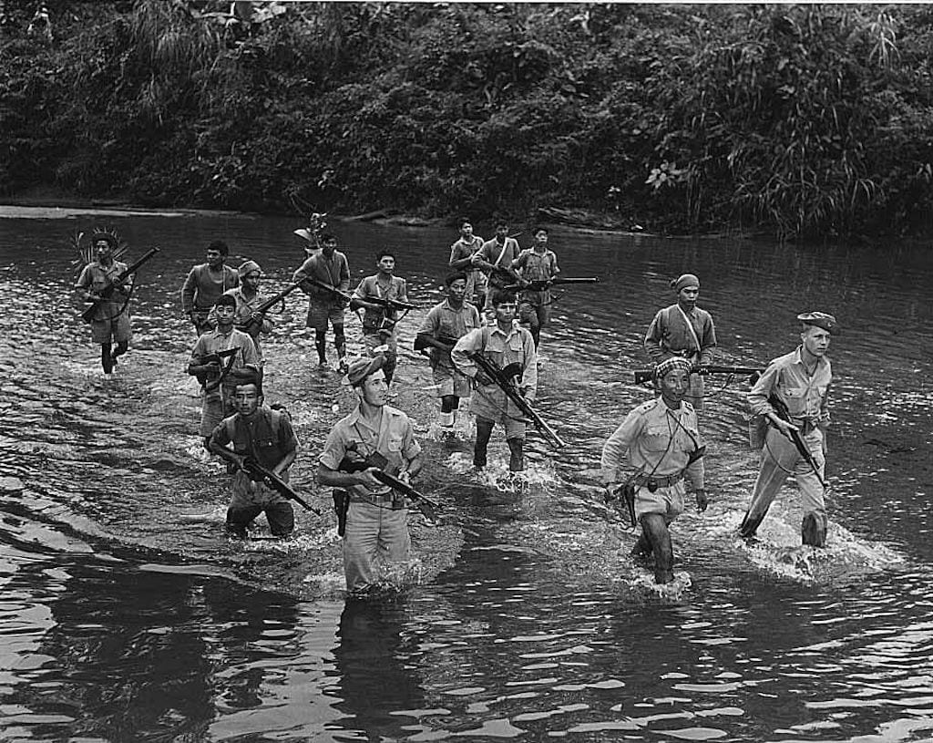 Kachin fighting men, led by OSS Detachment 101 personnel, operated independently from the 5307th for most of the 1944 campaign, but played a critical role as guides and by defeating Japanese patrols.