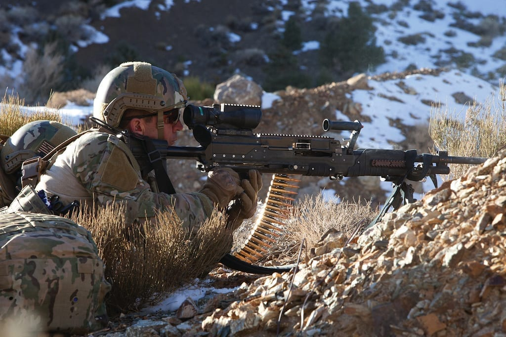 General Dynamics' prototype entrant for the LWMMG evaluation of an intermediate caliber machine gun.