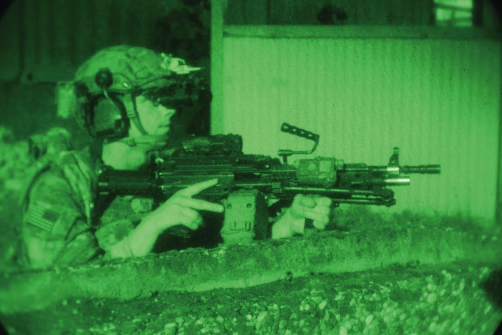 U.S. Army Rangers of the 2nd Battalion 75th Ranger Regiment, conduct multiple night raids at Hohenfels Training Area, Germany, April 23 – 26, 2018. The Joint Warfighting Assessment (JWA) helps the Army evaluate emerging concepts, integrate new technologies, and promote interoperability within the Army, with other services, U.S. allies, and other coalition partners. JWA is the only exercise venue assessing 27 concepts and capabilities while aligning with U.S. Army Europe Readiness and other component exercises such as Combined Resolve X and Blue Flag 18 with a focus on a ready, interoperable Joint Force capable of accomplishing the mission and overmatching current and future enemies across the range of military operations