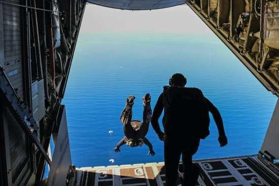 SEALs jump from MC-130J