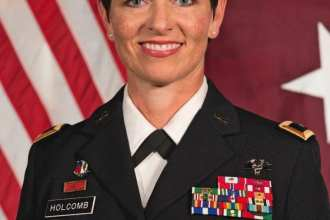 Major General Barbara R. Holcomb.