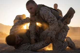 Marines grapple