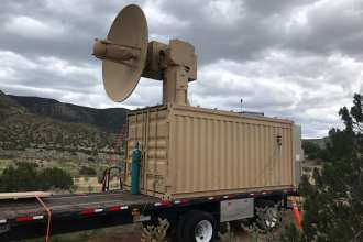 The Air Force Research Laboratory's Tactical High Power Operational Responder developed for airbase defense. (Courtesy photo/AFRL Directed Energy Directorate)