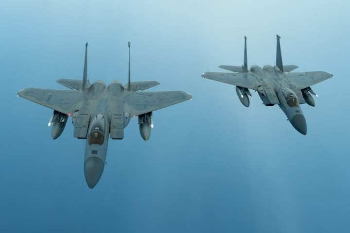 Two F-15C Eagles
