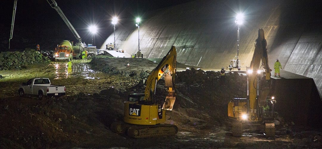 round-the-clock repairs at Oroville