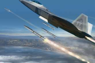 Artist's conception of Raytheon's Peregrine advanced air-to-air missile. Raytheon image