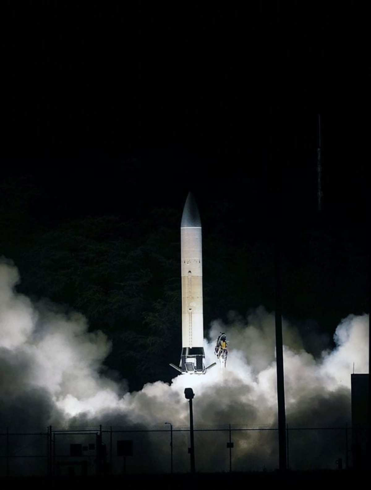 The U.S. Army Space and Missile Defense Command/Army Forces Strategic Command conducted the first flight of the Advanced Hypersonic Weapon (AHW) concept in November 2011. AHW is a boost-glide weapon that is launched to a high altitude, curves back to the Earth's surface and then glides or skips along the atmosphere, without power, for the remainder of its flight