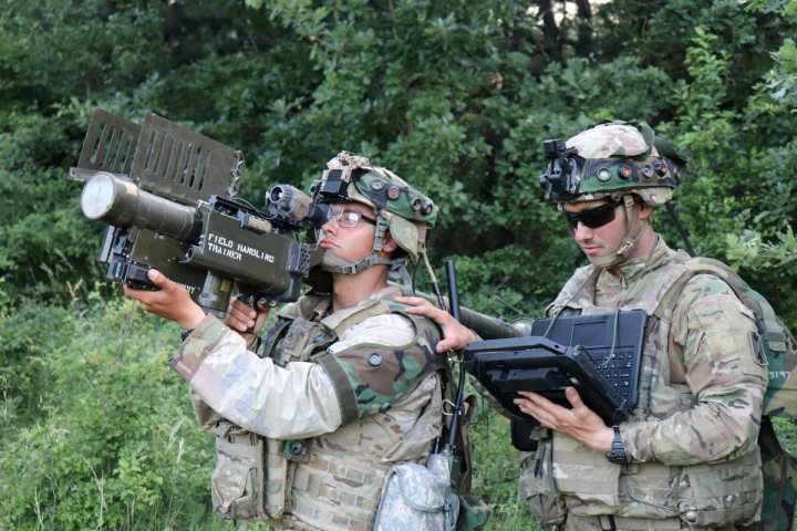Soldiers in Europe demonstrate the Enhanced Target Acquisition Kit, or ETAK, during the Sabre Guardian exercise earlier this year. ETAK is designed to provide day, night and degraded visual environment target acquisition and tracking for man-portable systems for Warfighters. (U.S. Army photo by Justin Novak)