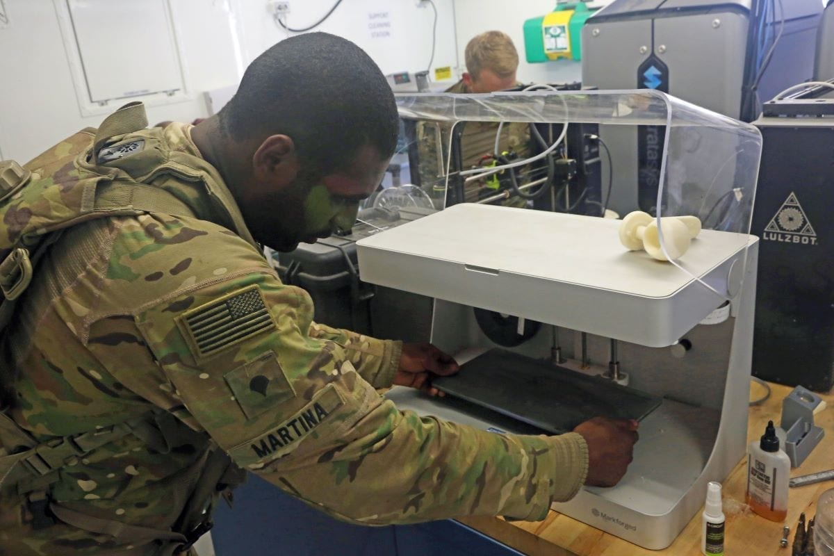 3D printer US Army additive manufacturing defensemedianetwork.com 3D-parts manufacturing suppliers