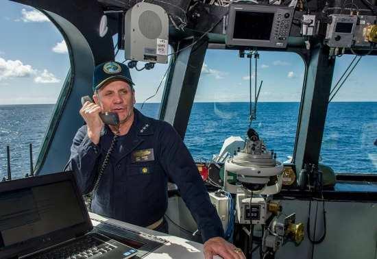 VADM Brown at sea