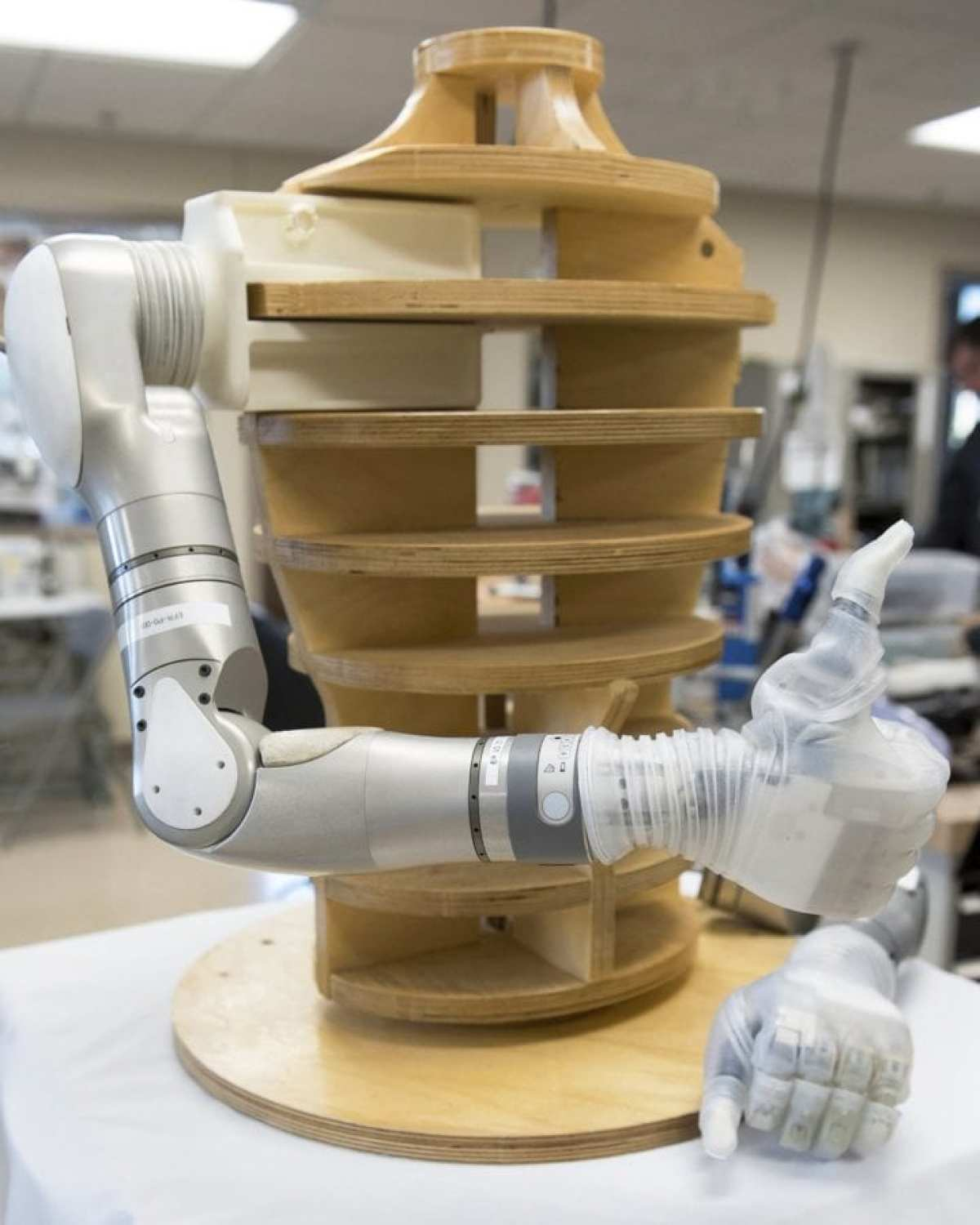 The LUKE Arm prosthesis translates signals from the wearer's muscles to perform complex, simulations, powered movements. In May 2014, it became the first invasive prosthesis to receive FDA approval.