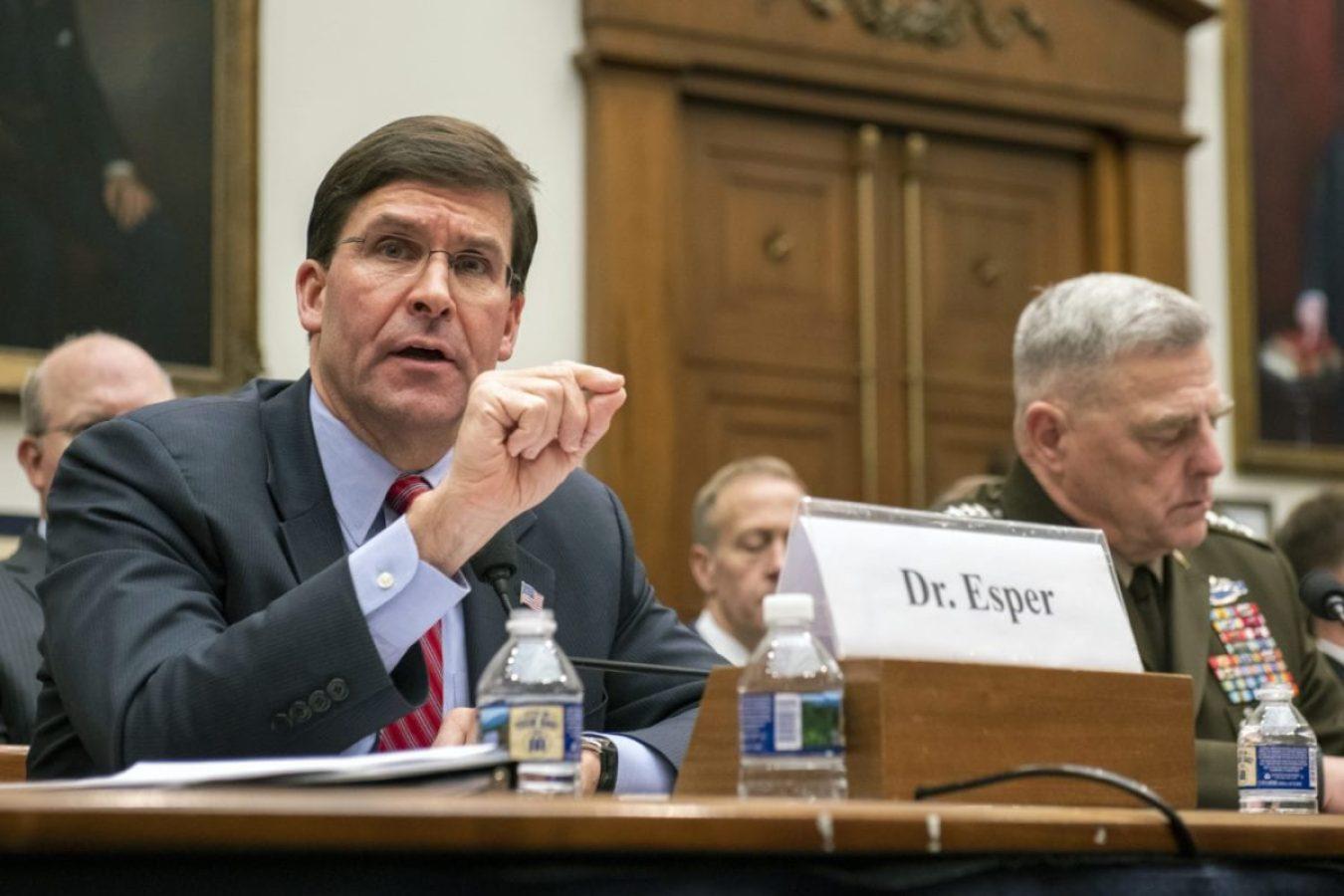 Secretary of Defense Mark T. Esper at Syria Hearing