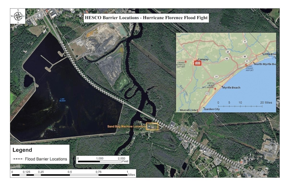 HESCO Barrier Map Army Corps of Engineers