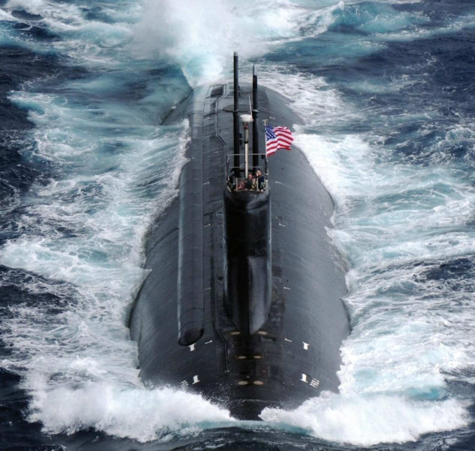The Seawolf-class fast-attack submarine USS Connecticut (SSN 22) transits the Pacific Ocean during Annual Exercise (ANNUALEX 21G). Only three Seawolf-class submarines were constructed before giving way to the Virginia class.