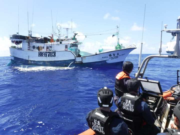 USCG boarding team protecting Pacific Ocean fisheries