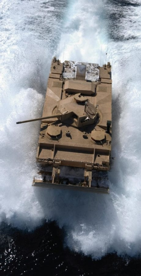 The Expeditionary Fighting Vehicle (EFV) offered exceptional speed, mobility, and lethality on land and water, but after delays and difficulties with the program it was canceled in 2011. U.S. MARINE CORPS PHOTO