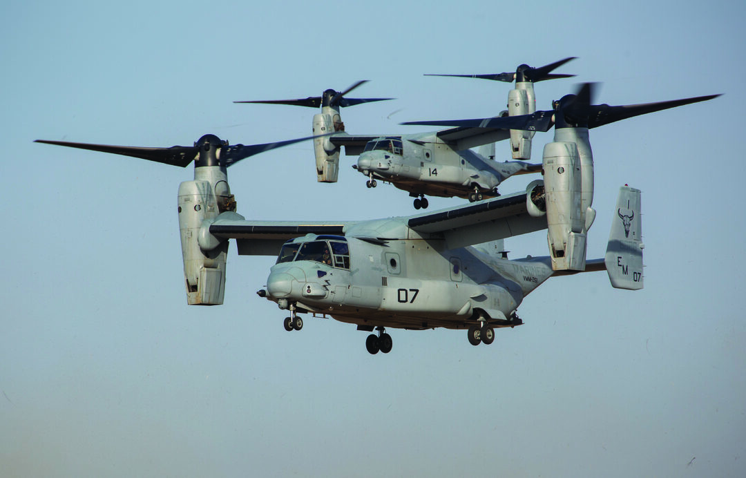 U.S. Marine Corps MV-22 Ospreys