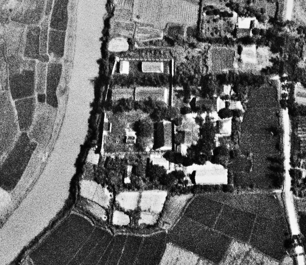 air reconnaissance photo of the Son Tay Vietnam POW compound.