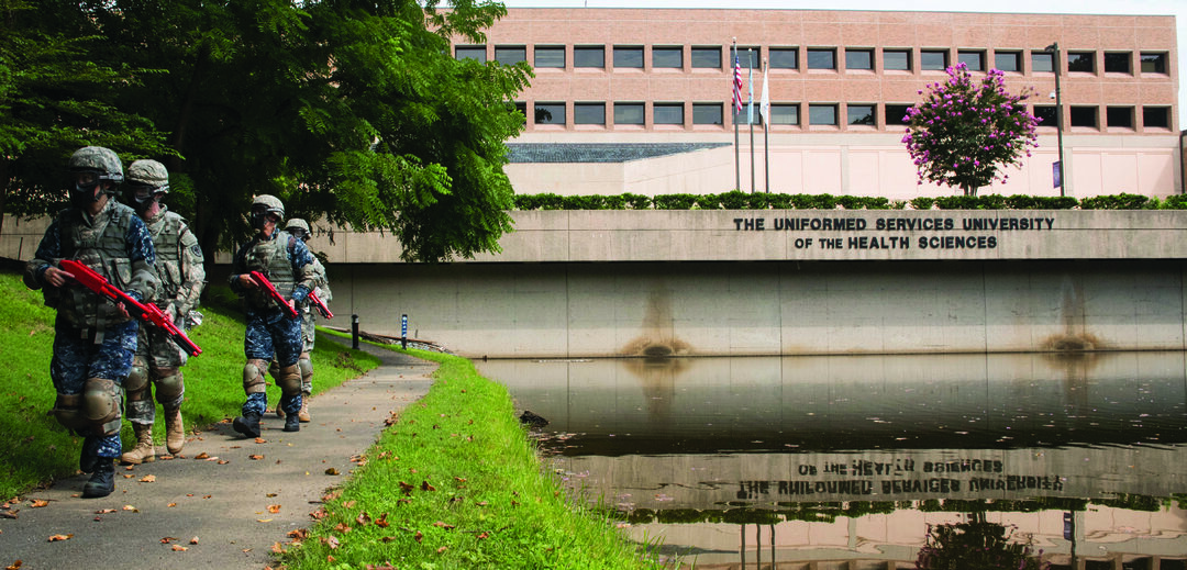 The Uniformed Services University of the Health Sciences (USUHS) located in Bethesda, Maryland, is the premier medical education and research center for the U.S. armed forces.