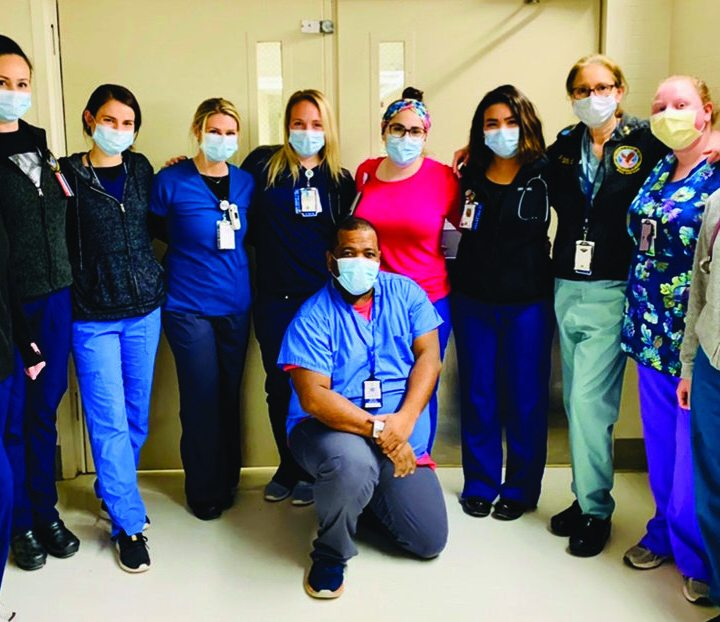 VA Nurses at VA Boston Healthcare System stand ready to serve Veterans and their community. This photo includes VA Nurses on a Spinal Cord Injury Unit. Opposite page: VA Nurses in the Community Living Center.