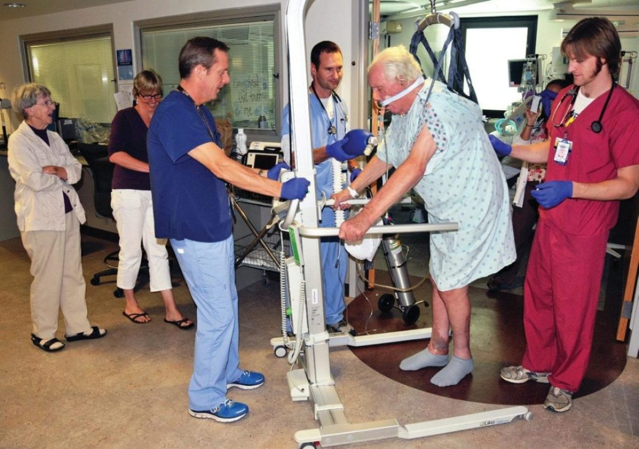 Stand-assist technology facilitates early mobility, which evidence shows is beneficial to patients.